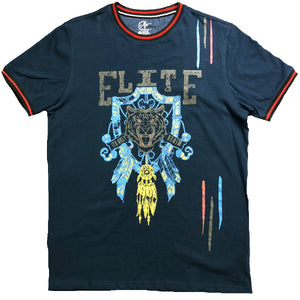 Navy Gangster T-shirt - Elite Premium Denim