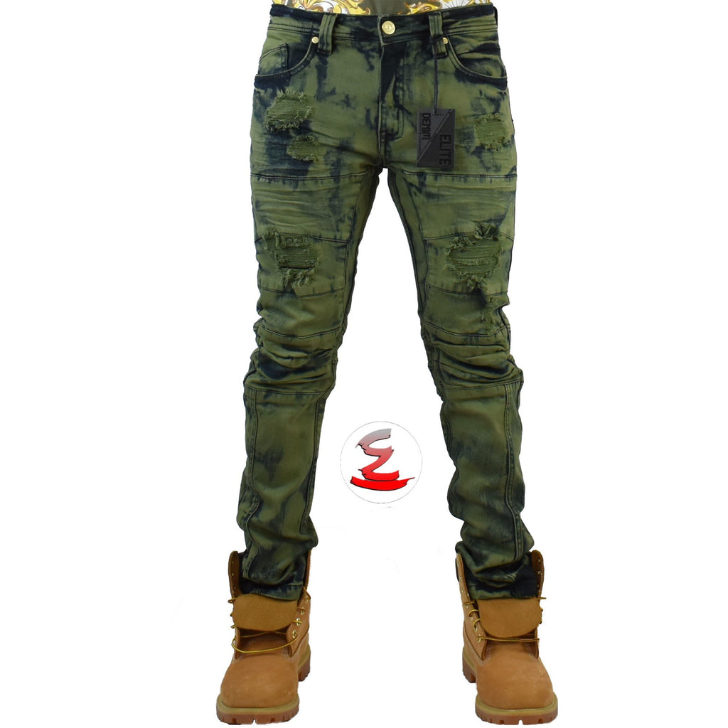 Army Olive Jeans - Elite Premium Denim