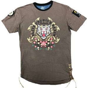 Coffee Floral Bear Tee