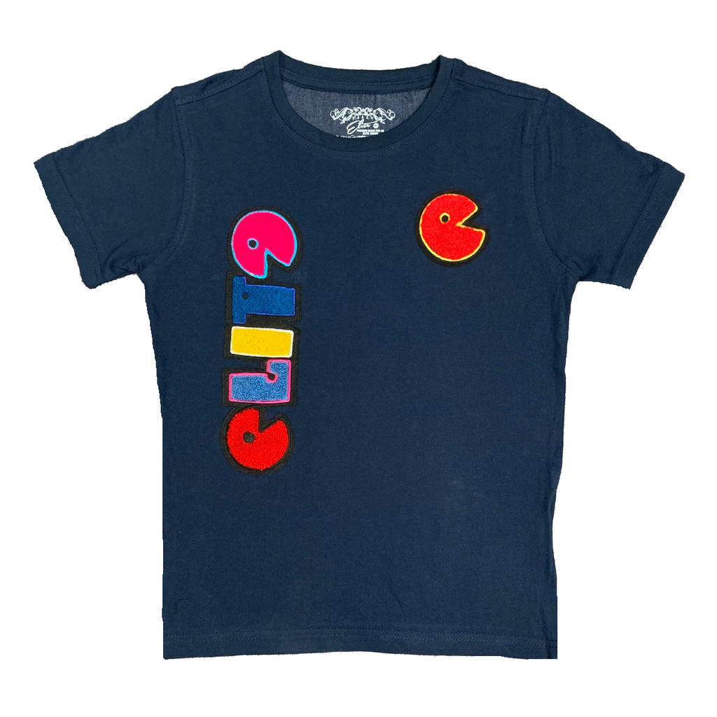 Premium Patch Kids Tee Navy