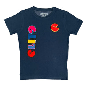 Premium Patch Kids Tee Navy - Elite Premium Denim