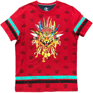 Tiger Chainz Red T-Shirt - Elite Premium Denim