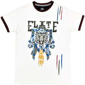 White Gangster Tee - Elite Premium Denim