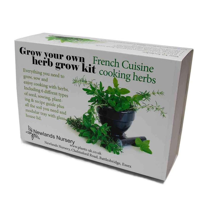 Grow Your Own herb kit. *French Cuisine Cooking Herbs*