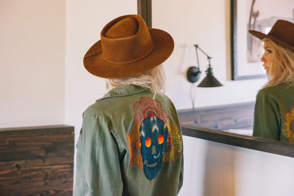 Crawford Denim and Vintage Co. Psychedelic Skulls