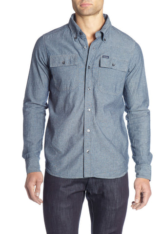 CHAMBRAY L/S BUTTON-UP SHIRT