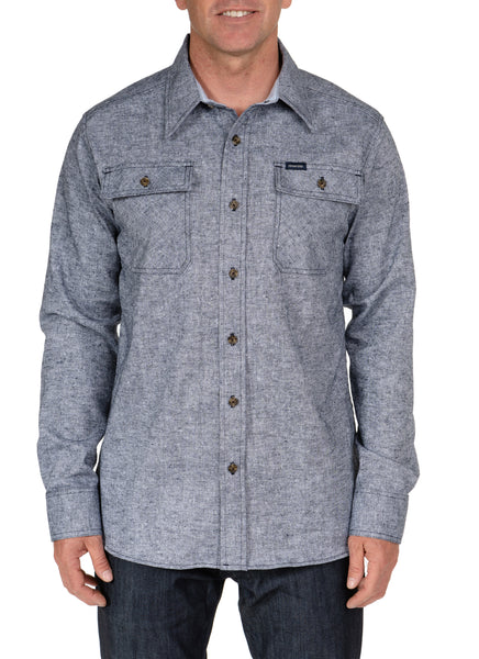 INDIGO OXFORD L/S BUTTON-UP SHIRT
