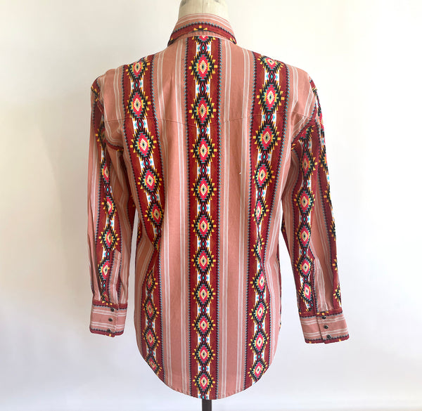 Vintage BLUE PALM HAWAIIAN Shirt