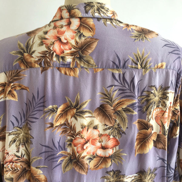 Vintage PURPLE HAWAIIAN FLORAL Shirt