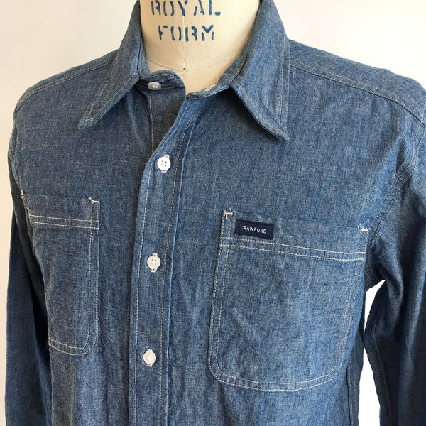 CHAMBRAY L/S PATCH POCKET SHIRT