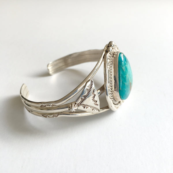 TURQUOISE STAMPED CUFF BRACELET