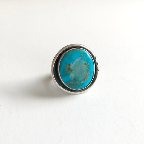 Vintage ROUND TURQUOISE RING