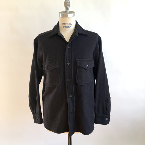 Vintage NAVY WOOL SHIRTJACK