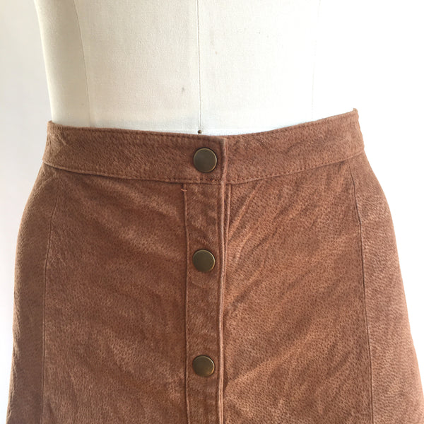 Vintage SUEDE MINI SKIRT