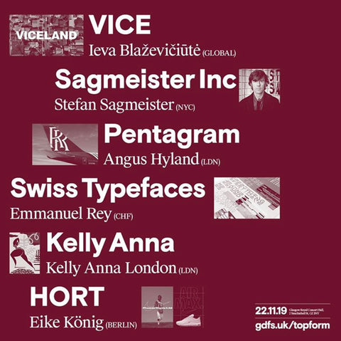 Top form vice Swiss typeface Kelly Anna