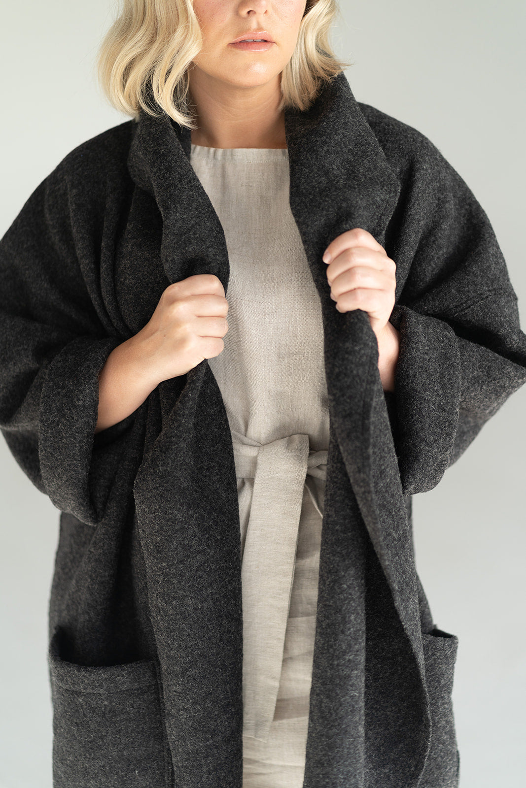 GEORGIA OVERSIZED WOOL SHAWL COAT