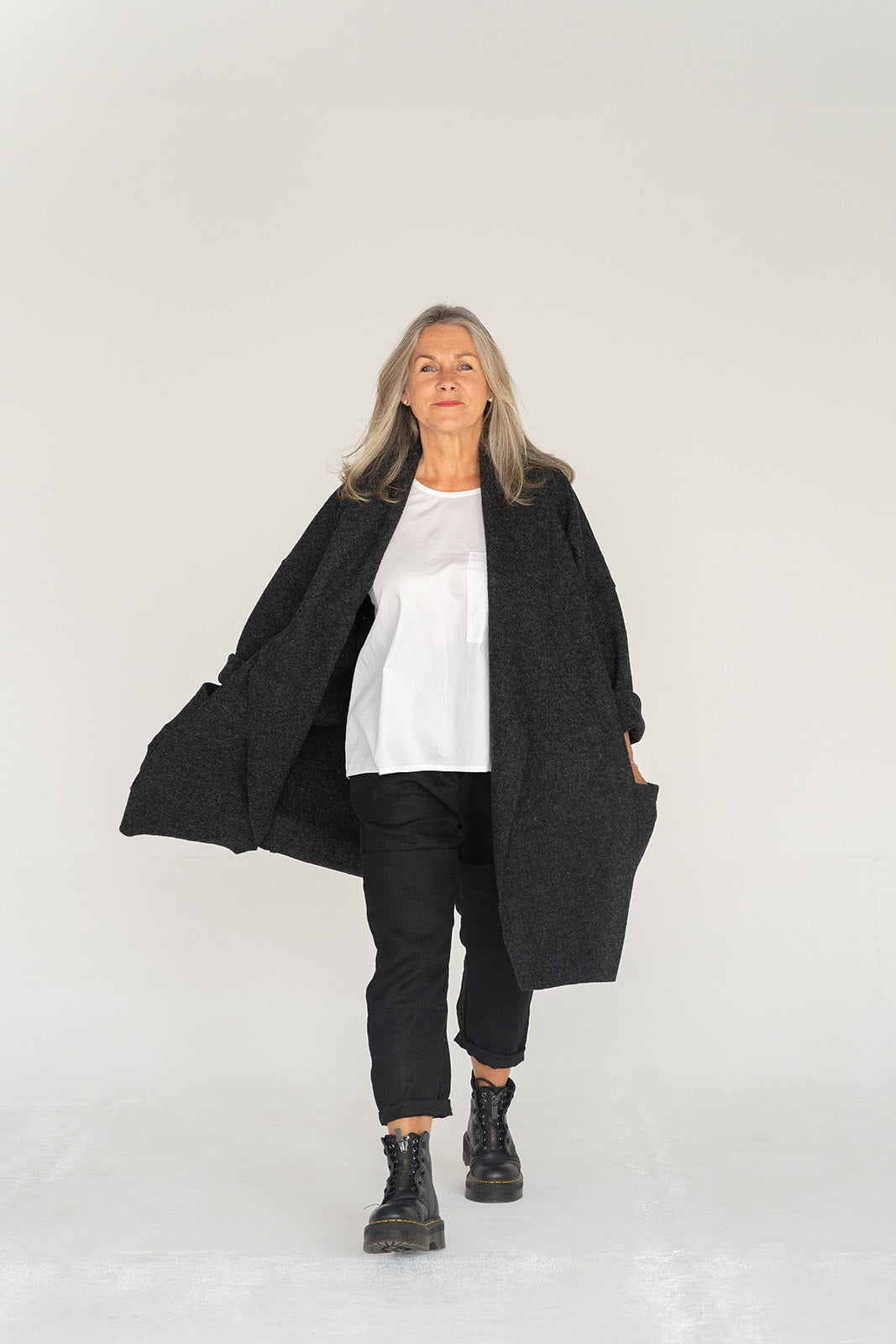 'Georgia' 100% Wool Coat