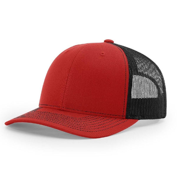 Richardson 112 Red/Black - Trucker Snapback