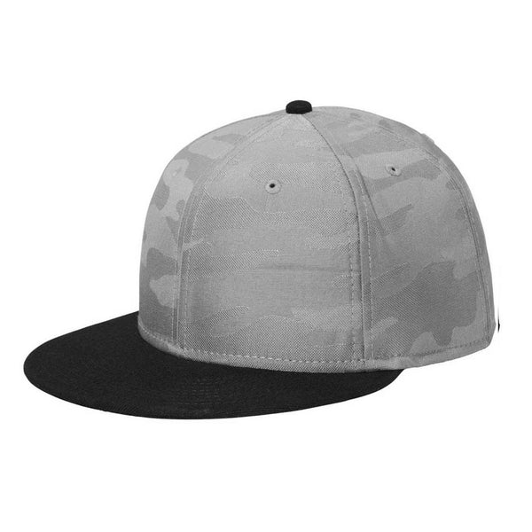 New Era Black/Rainstorm Grey Camo Solid Back Snapback