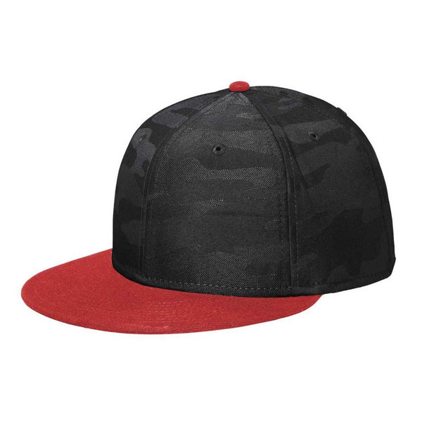 New Era 9FIFTY Scarlet/Black Camo Solid Back Snapback