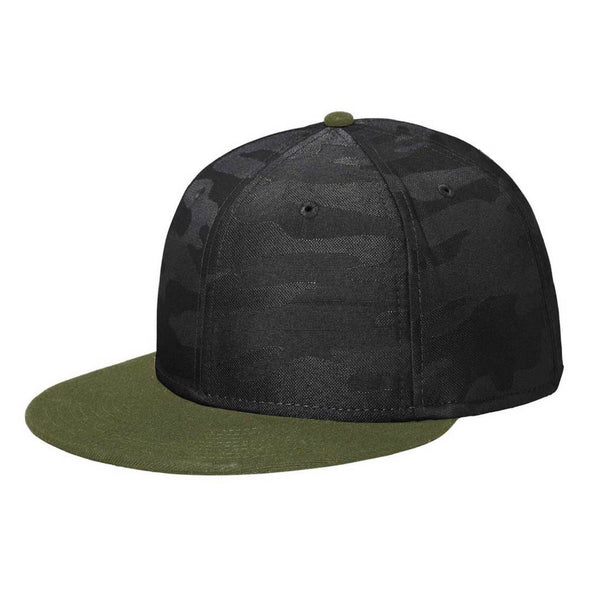 New Era 9FIFTY Army/Black Camo Solid Back Snapback