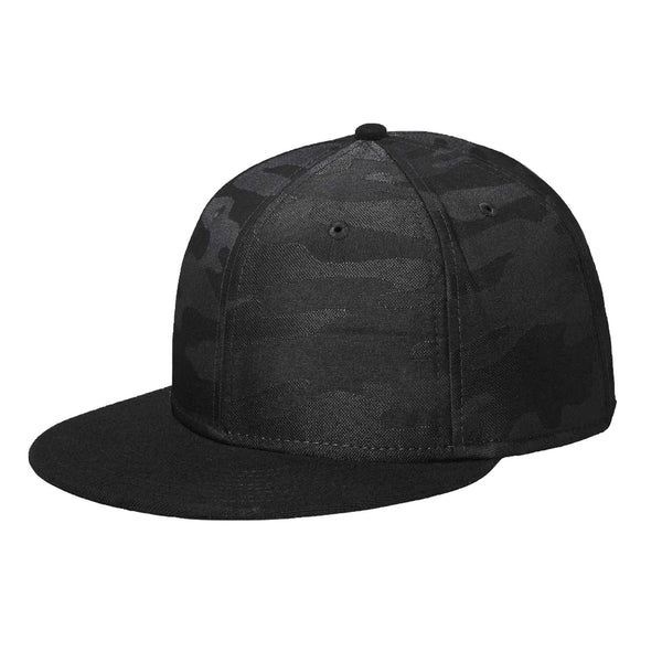 New Era 9FIFTY Black/Black Camo Solid Back Snapback