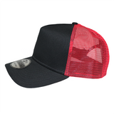 New Era 9FORTY Black/Scarlet Trucker Snapback Mesh