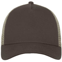 Chocolate/Khaki New Era 9FORTY Trucker Snapback Mesh