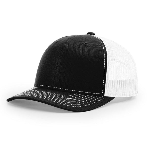 Richardson 112 Black/White Trucker Snapback.