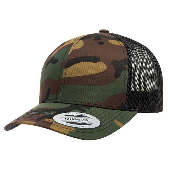 Flexfit 6606CA. Camo Retro Trucker