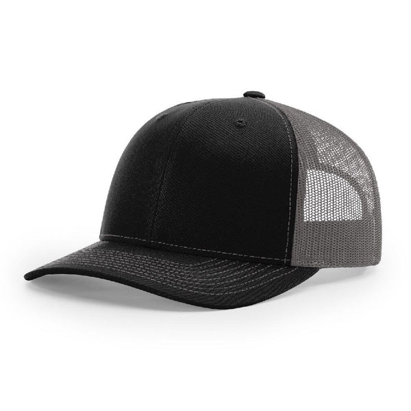 112 Black/Charcoal Richardson Trucker Snapback