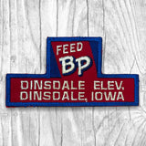 BP FEED. DINSDALE ELEV. Vintage Patch