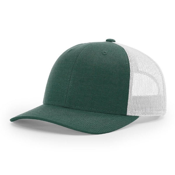 Richardson 115 Heather Dark Green/Silver - Low Pro Trucker Snapback