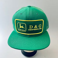 John Deere. D & G Equipment, Inc. Vintage Patch + New Era Dupont Visor Trucker