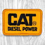 CAT Diesel Power. Black/Yellow Vintage Patch