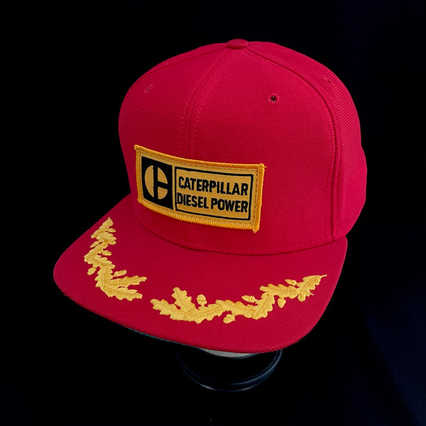 "CATERPILLAR DIESEL POWER Vintage Patch + New Era ""Scrambled Egg Visor"" Trucker"