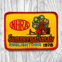 NHRA 1978 Summer Nationals Englishtown Vintage Patch