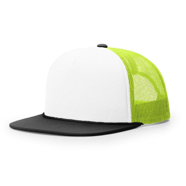 Richardson 113 White/Neon Yellow/Black Foamie Trucker