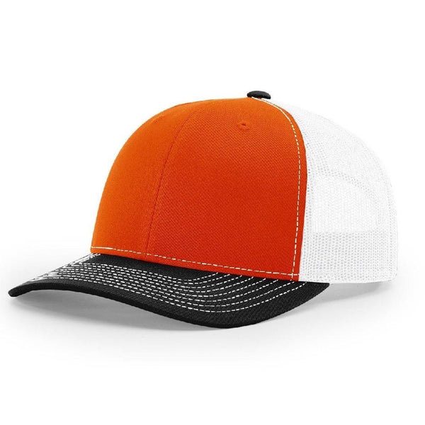 Richardson 112 Orange/White/Black - Trucker Snapback