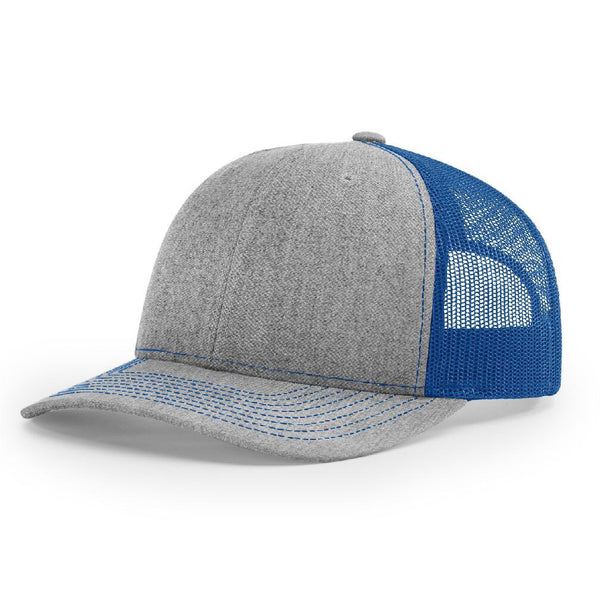 Richardson 112 Heather Gray/Royal - Trucker Snapback