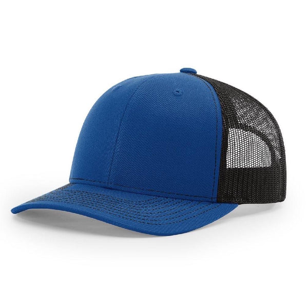 Richardson 112 Royal/Black - Trucker Snapback