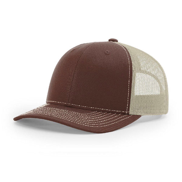 Richardson 112 Brown/Khaki Trucker Snapback.