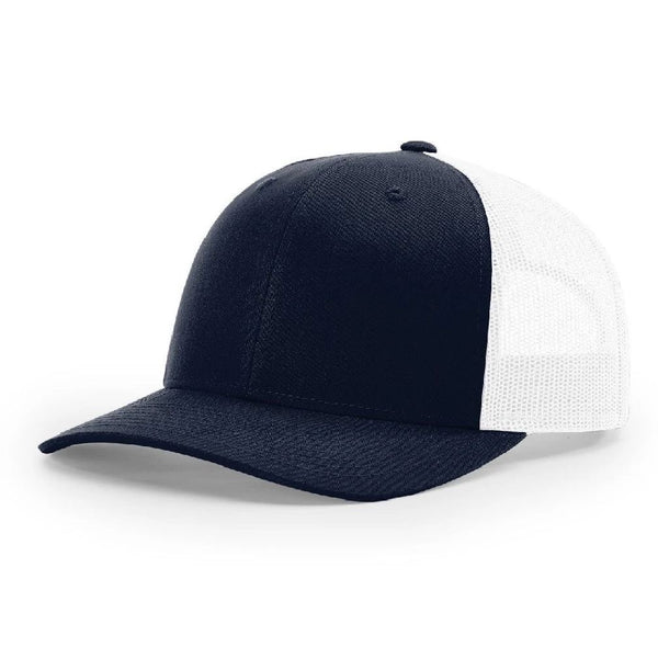Richardson 115 Dark Navy/White - Low Pro Trucker Snapback
