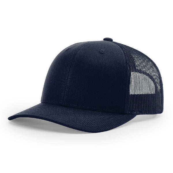 112 Dark Navy Richardson Trucker Snapback