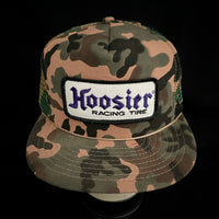 Hoosier Racing Tire Vintage Patch + NOS Designer Award Headwear Foam/Camo Trucker Snapback
