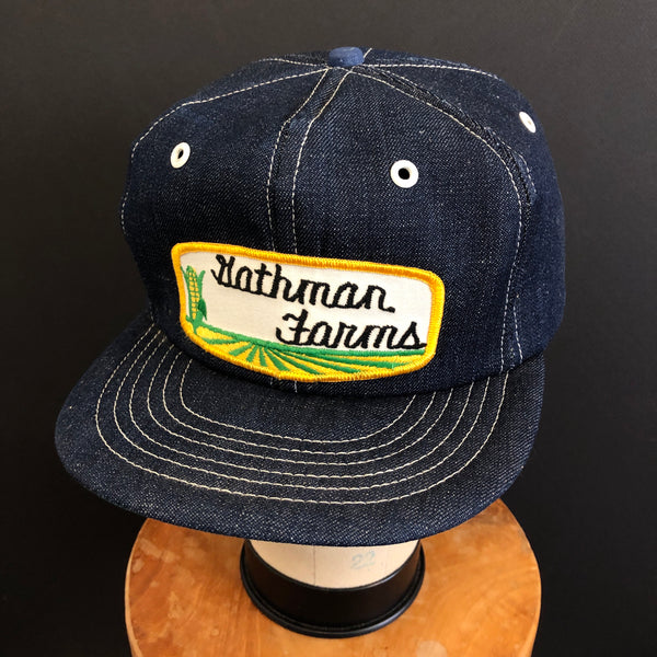 Gathman Farms. Modern Farm Vintage Denim Snapback