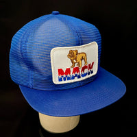 Mack Trucks Vintage K-Products Full-Mesh Blue Trucker Snapback