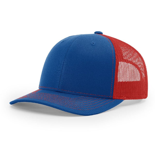 Richardson 112 Royal/Red - Trucker Snapback