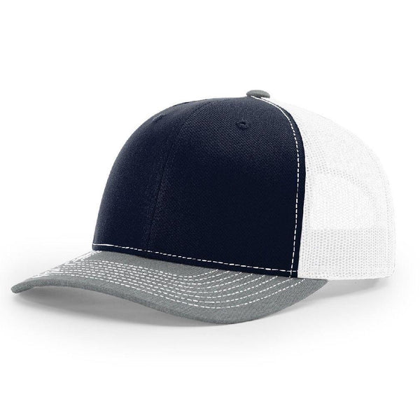 Richardson 112 Dark Navy/White/Heather Gray - Trucker Snapback
