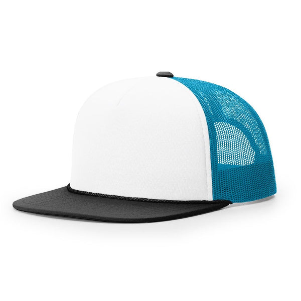 Richardson 113 White/Neon Blue/Black Foamie Trucker
